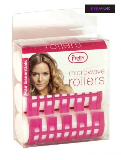 Pretty Microwave Hair Rollers X 3 Will Create Curls And Waves In Minutes These Round Can Be Used On Dry Or Damp