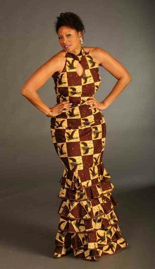 Yellow & brown print dress