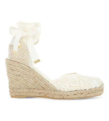 DUNE Kloss Crochet Espadrille Wedge Sandals. #dune #shoes #sandals