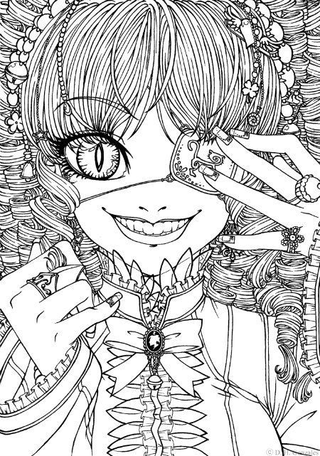 goth coloring pages Pin by julia on Colorings | Pinterest | Coloring pages, Adult  goth coloring pages