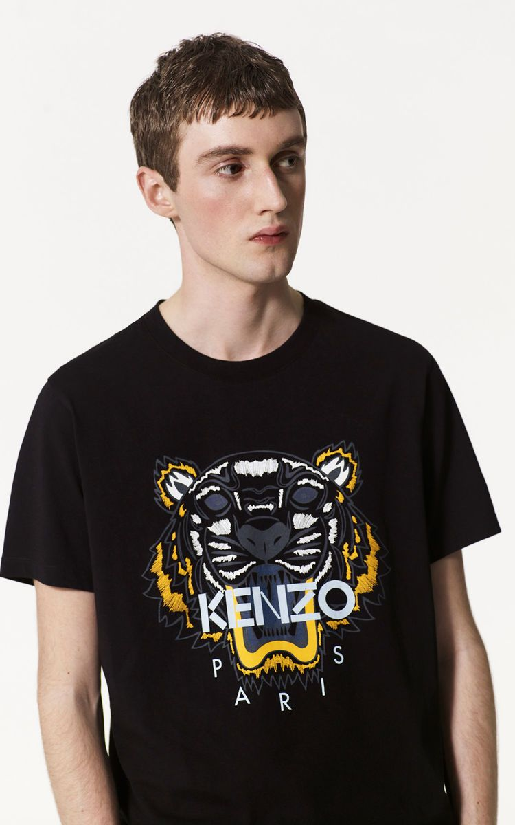 5ad0f11fc455 BLACK Tiger T-shirt for men KENZO | Men in 2019 | Tiger t shirt ...