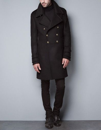 160f93ce Who needs the blazer when you can buy the coat! Black Military Coat from  Zara. $279