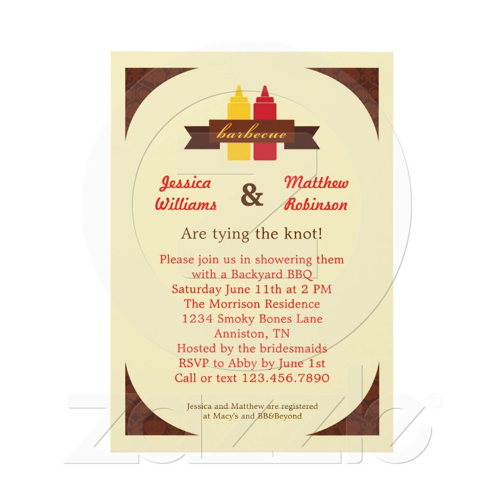 bbq couples bridal shower invitation couples bridal showers