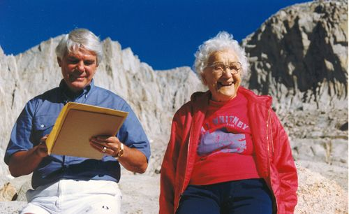 Hulda Crooks-- climbed Mt. Whitney (as the oldest woman) between ages