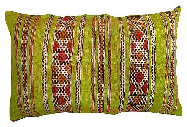 One Kings Lane - Tribal Style - Lime Green Moroccan Sham