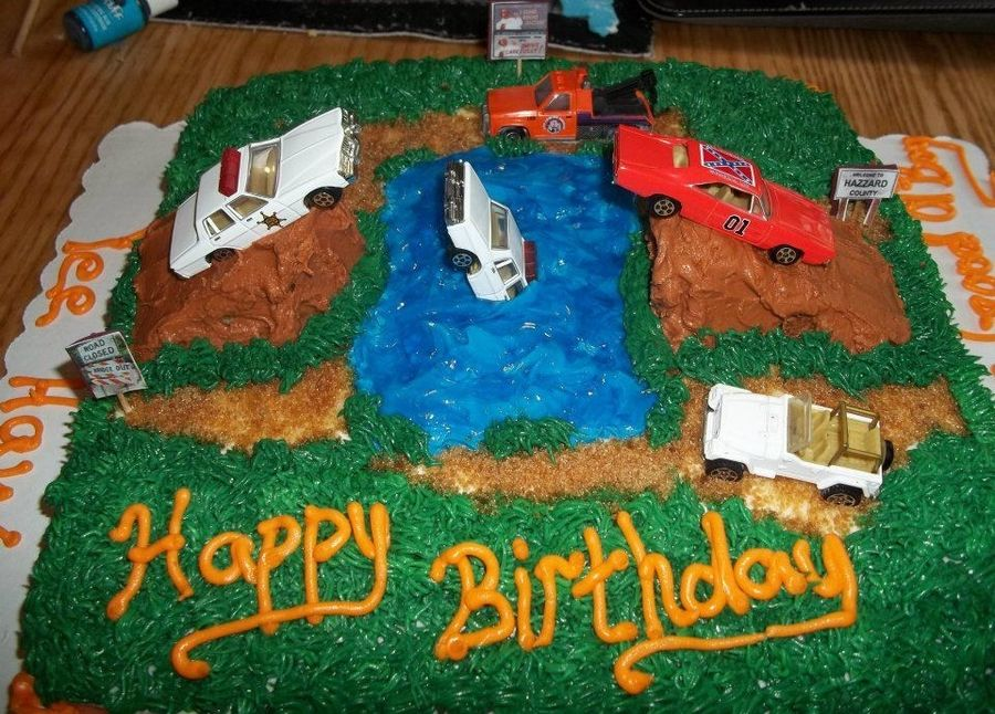 Terrific Dukes Of Hazzard Bday Cake Boy Birthday Cake Childrens Birthday Personalised Birthday Cards Arneslily Jamesorg
