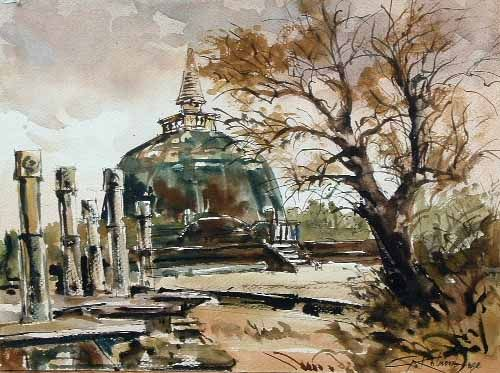 Gunasri Kolambage Polonnaruwa Sri Lanka Watercolour On Paper