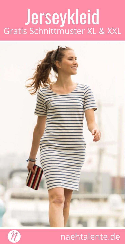 Jerseykleid große Größen - Freebook Gr. 50 - 56 | Pinterest | Große ...