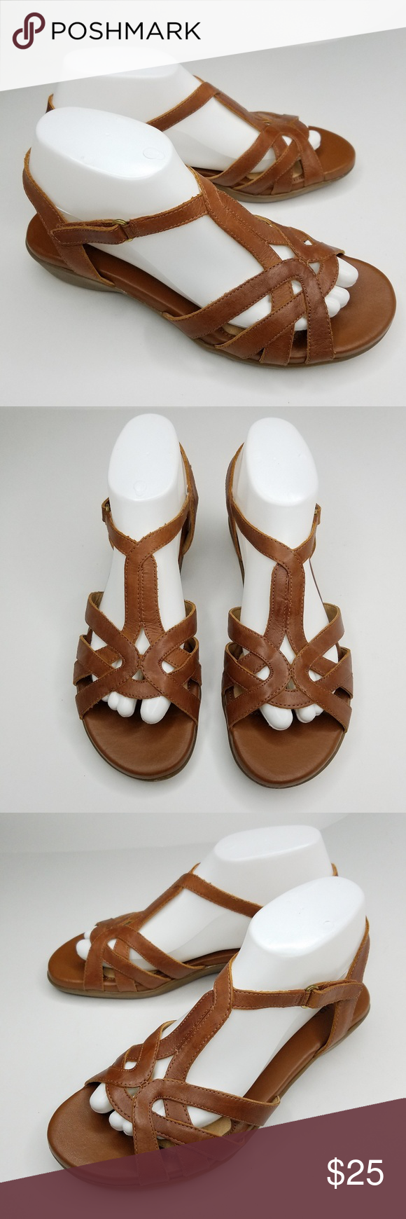 288f35ebfc1d Naturalizer nella brown strappy sandals size Condition  Preowned. Very  gently worn. Size