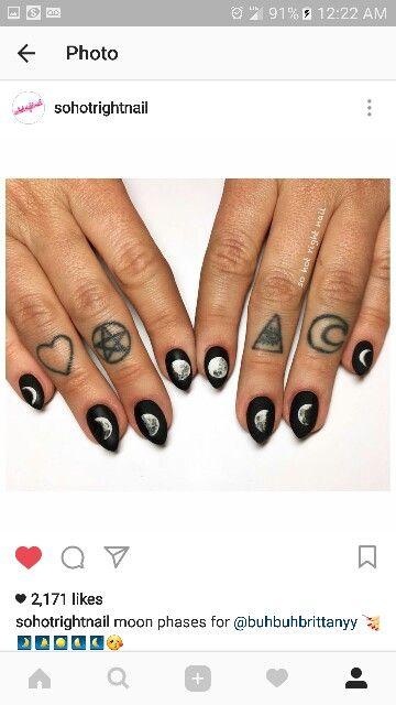 Moon Phase Nails Beauty Pinterest