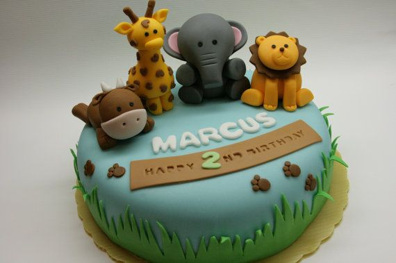 Fantastic Safari Animal Cake Topper By Beautifulkitchen On Etsy 70 00 Funny Birthday Cards Online Alyptdamsfinfo