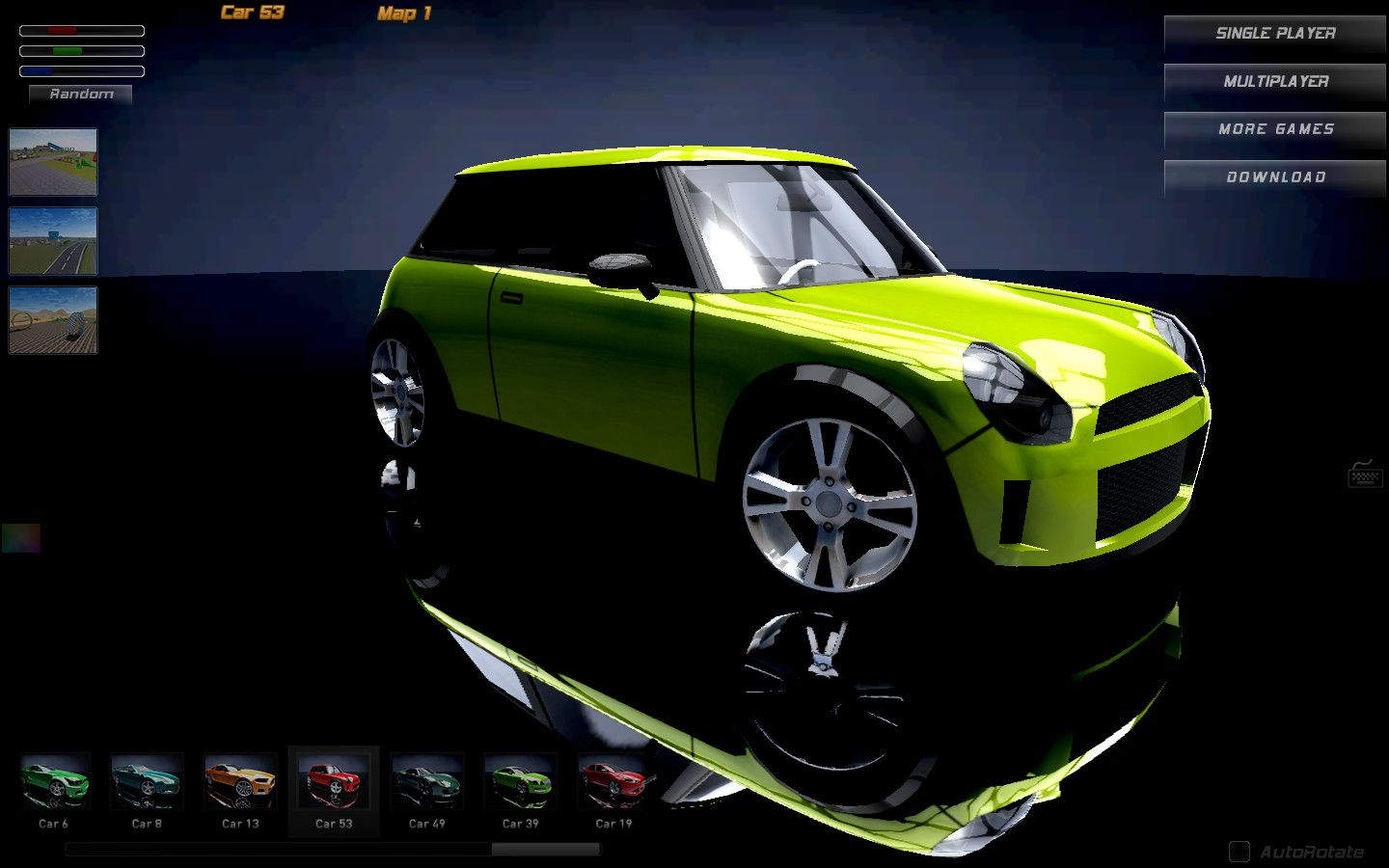 You can play Madalin Stunt Cars 2 either by yourself or in