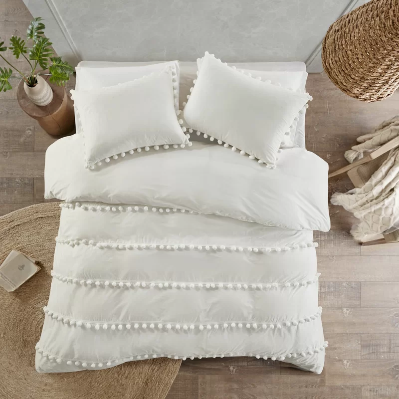 Obrian Pom Pom Comforter Set Duvet Cover Sets Duvet Covers