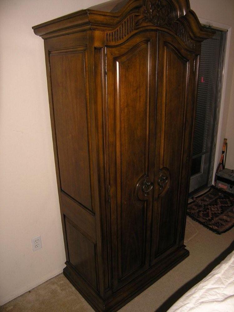 Vintage / Antique Armoire Dark in Walnut - White Furniture ...