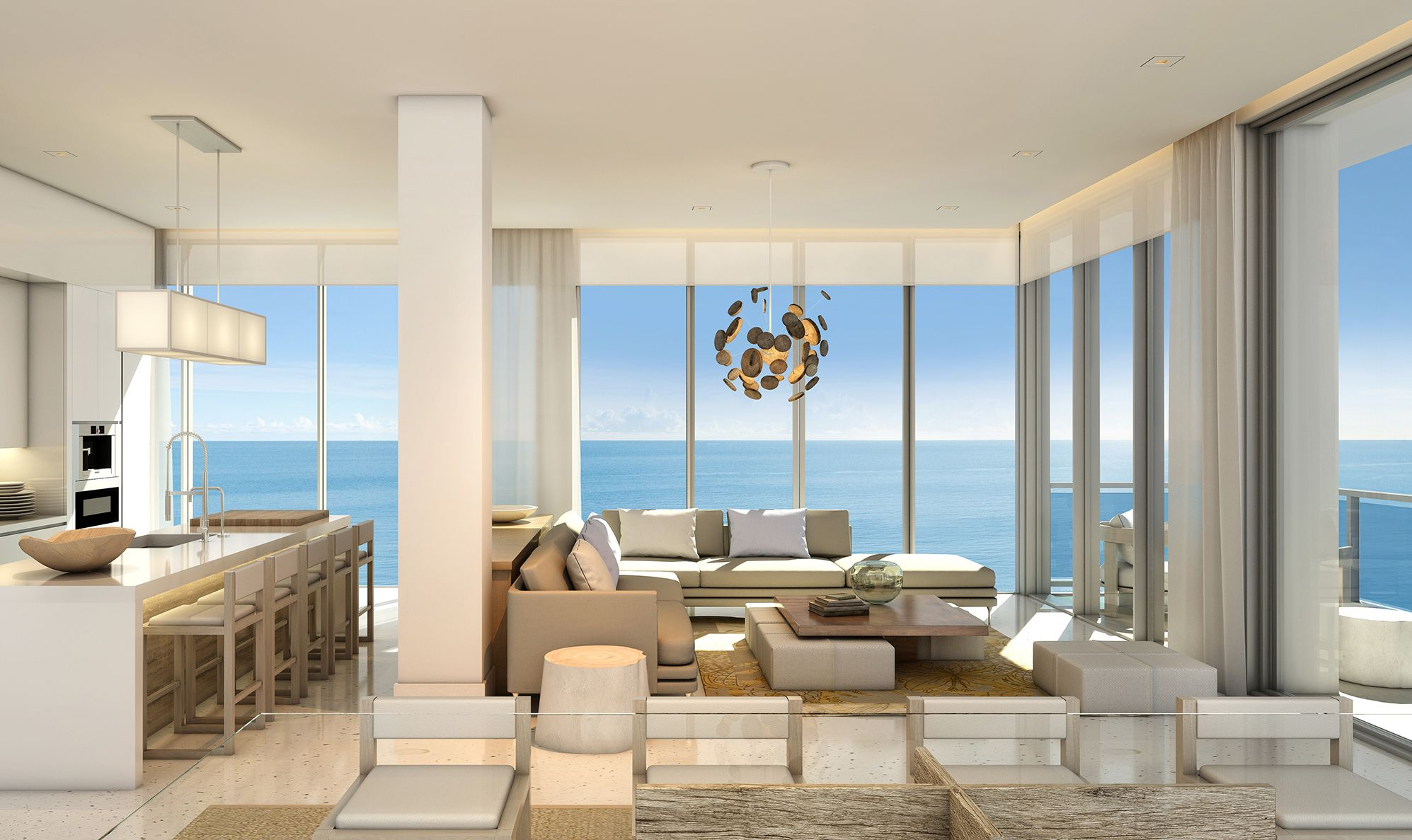 Contemporary Residencies At The 1 South Beach Hotel  Luxury Impressive Living Room Miami Inspiration Design