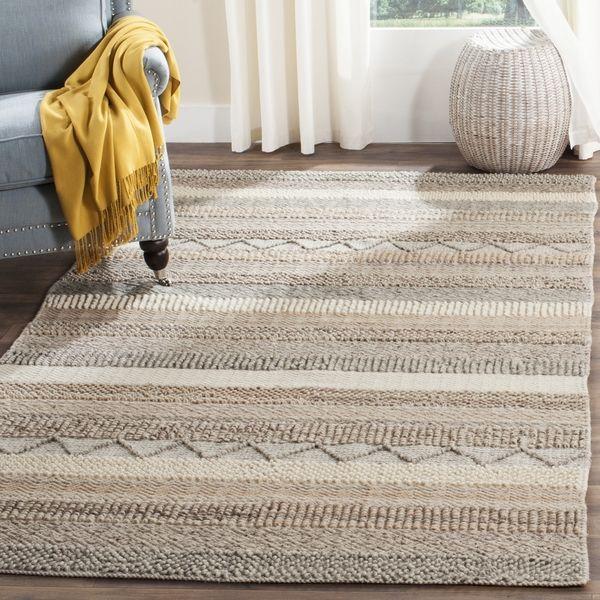 Safavieh Handmade Natura Beige Wool Rug 8 X 10 By Safavieh