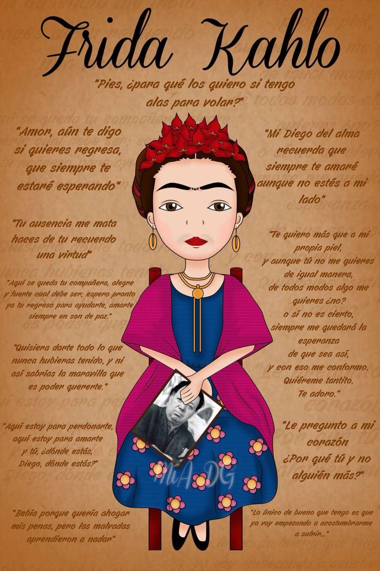 Homenaje A Frida Com Imagens Frases De Empoderamento Frases