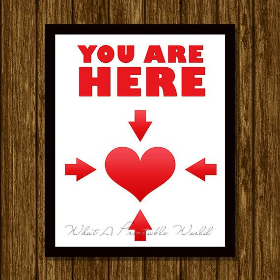 You are here, white background, printable inspirational poster by WhatAPrintableWorld on Etsy