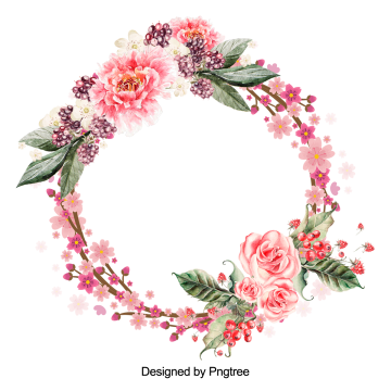Beautiful Flower Wreath With Leaves Design Flower Wreath Red Png Transparent Clipart Image And Psd File For Free Download Watercolor Flower Wreath Flower Graphic Design Green Leaf Background