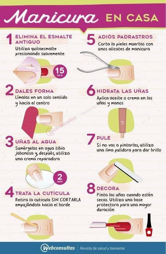 17 Infografías para cuidar y embellecer tus manitas con cosas que tienes en casa
