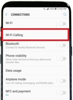 Steps to enable Wi-Fi calling on galaxy S8 and galaxy S8 plus  Use