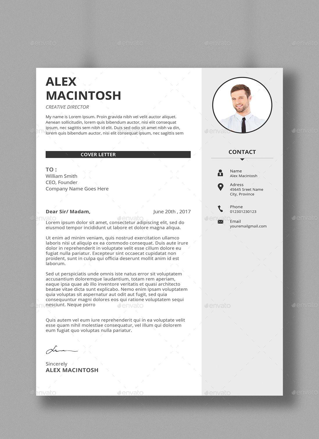 Resume Bundle Simple resume, Simple resume template, Resume
