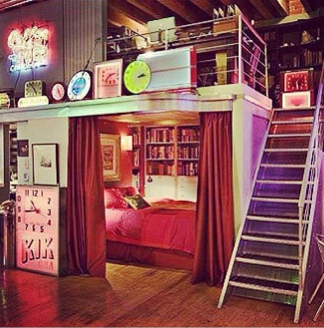 Loft bed curtain ideas  Coolest Teenage Bedrooms  Awesome Decoration Ideas  Bedrooms