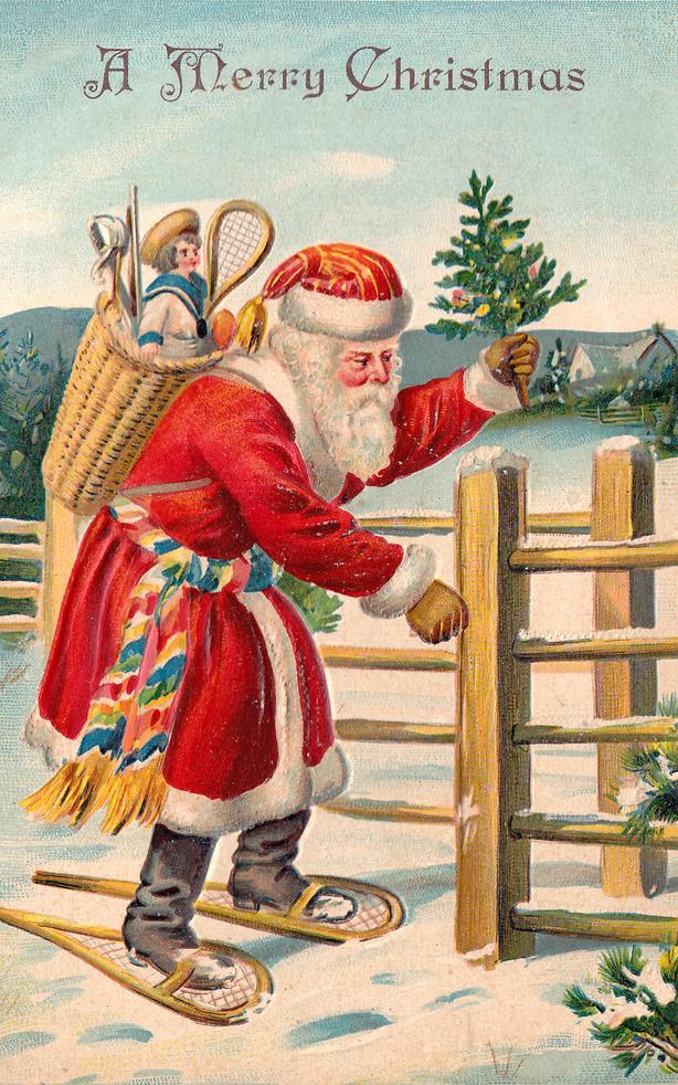 вместо обиды, немецкие новогодние открытки мире