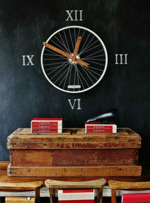 diy uhr fahrrad felge und meßstock … | Pinteres…