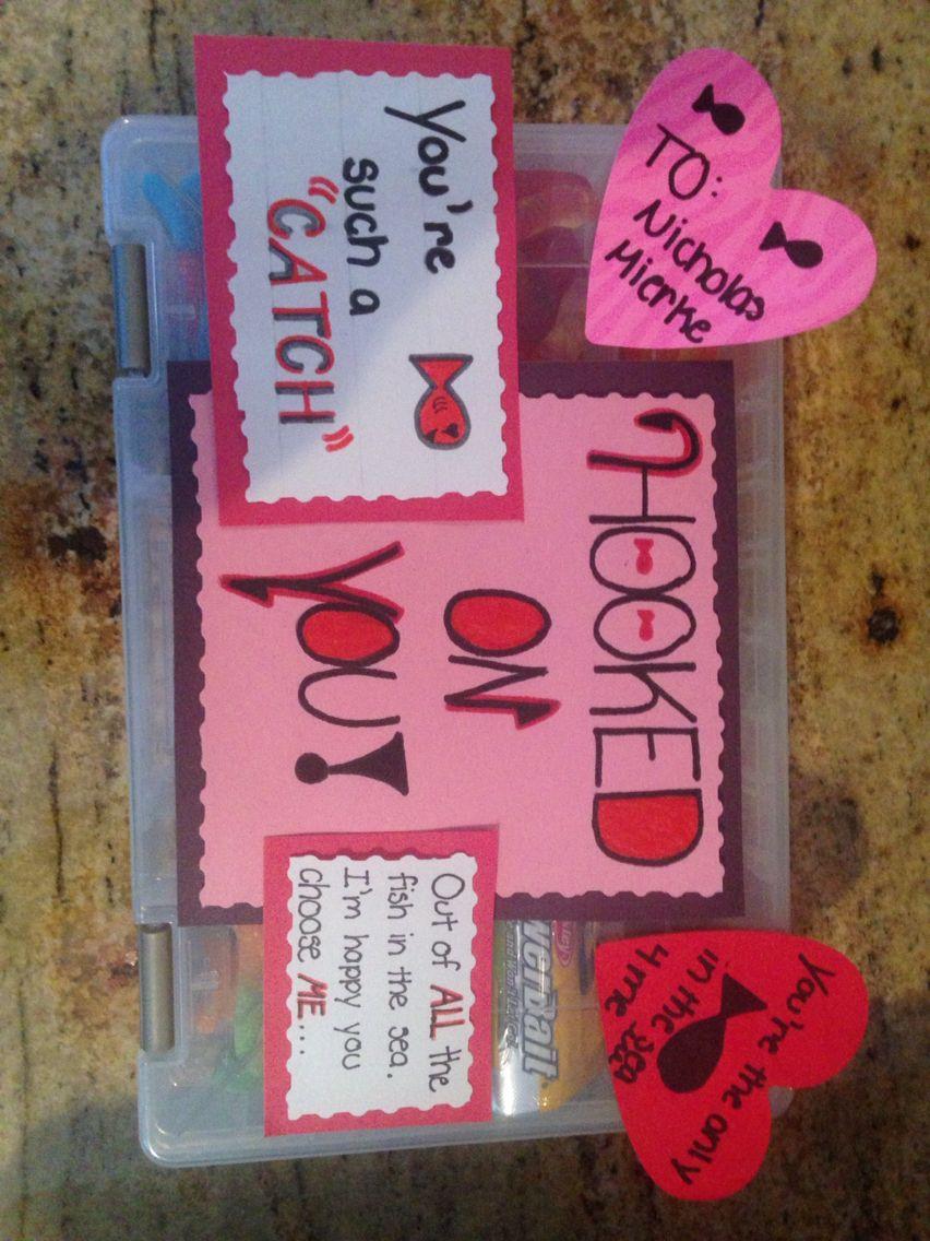 Made My Boyfriend This Fishing Tackle Box For My Boyfriend For Valentine S Day Fish Valentine Diy Gifts For Boyfriend Birthday Present For Boyfriend