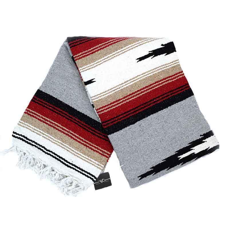 Mexican Diamond Yoga Blanket Grey Baja Blanket Yoga Blanket Retro Home Decor Retro Home