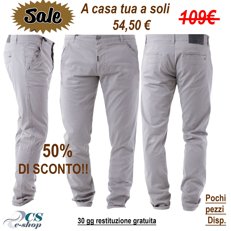 Dettagli su Pantalone Pantaloni uomo Cotone Originale
