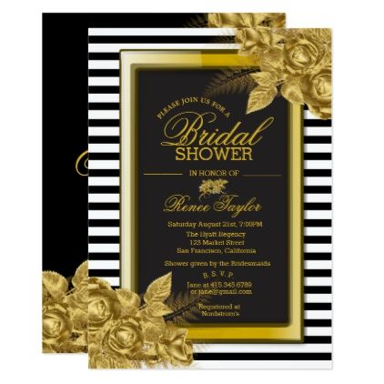 Elegant blackgold bridal shower invitations bride diy wedding elegant blackgold bridal shower invitations bride diy wedding marriage bridal filmwisefo