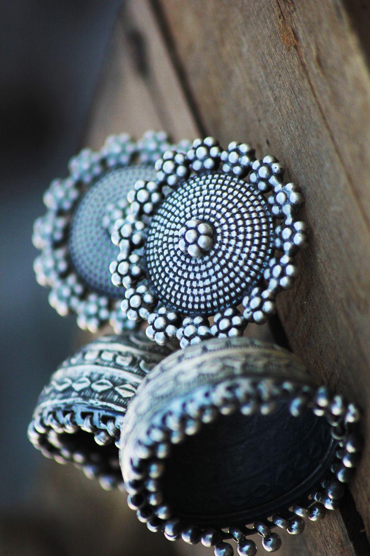 Fabindia Jewelry Sterling Silver Jhumka Accessories