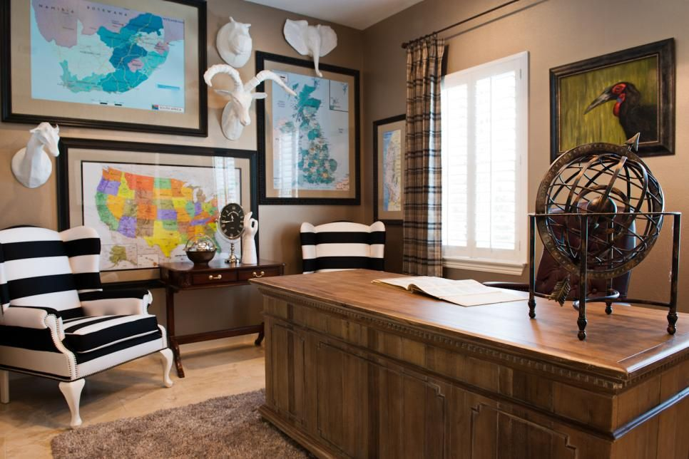 eclectic home office glam house this eclectic home office showcases pair of black and white