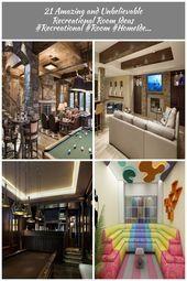 Photo of 21 Erstaunliche und unglaubliche Ideen für Freizeiträume #Recreational #Room #HomeIde …   #…