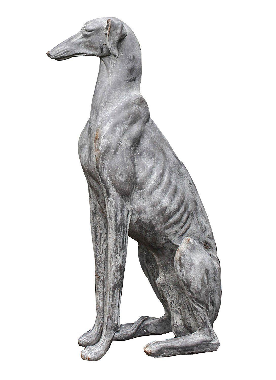 Ceramic Dog Statues Outdoor Decor
