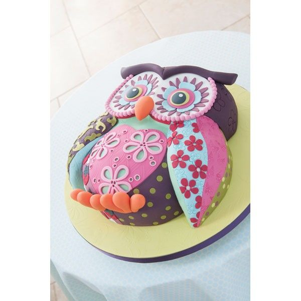 Patchwork Owl Cake Project Download Cakes Owls Pinterest Owl