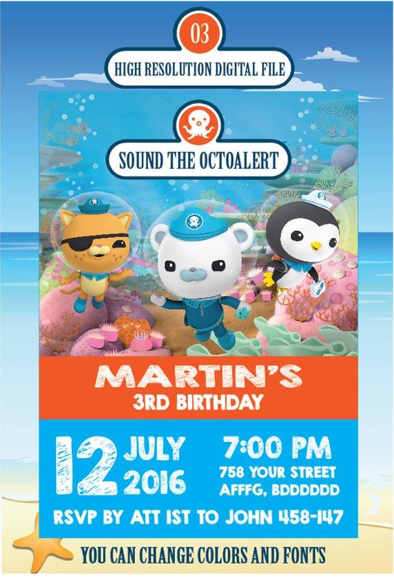 Octonauts Birthday Invitation Octonauts Birthday Octonauts