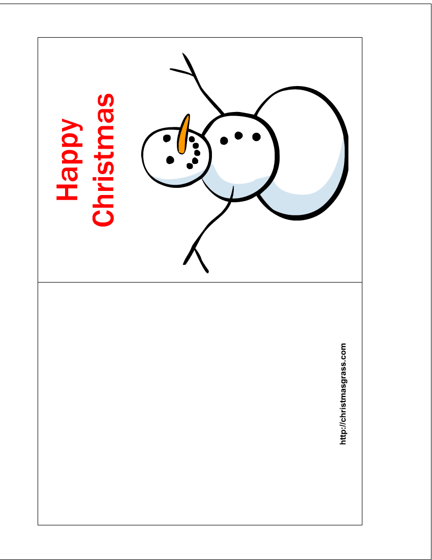 Free Printable Christmas Cards Free Printable Happy Christmas Card With Snowman P Free Printable Christmas Cards Holiday Card Template Happy Christmas Card