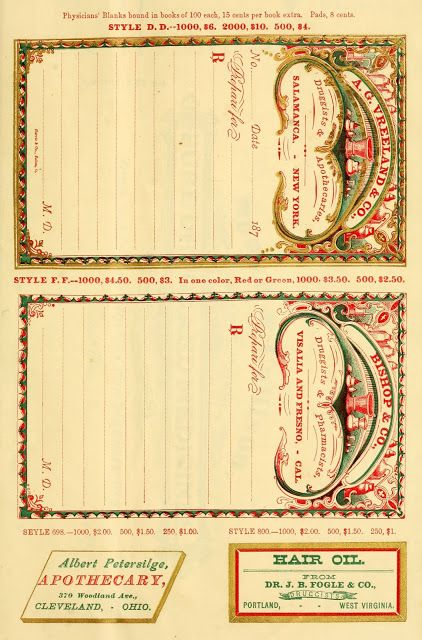 graphic about Free Printable Vintage Apothecary Labels identified as ARTEFACTS - antique shots: Antique Prescription Pad for