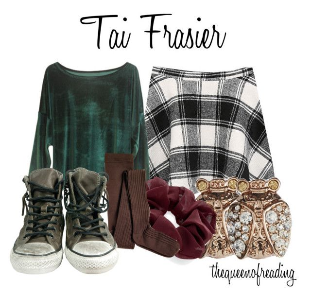 """""""Clueless - Tai Frasier"""" by thequeenofreading ❤ liked on Polyvore featuring Chicnova Fashion, Retrò, Johnny Loves Rosie, Accessorize and Sperry"""