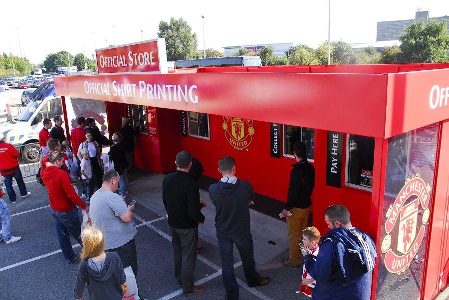 Stadium Shop Units Ready For A New Season Rapid Retail Manchester United Football Club Manchester United Football The Unit