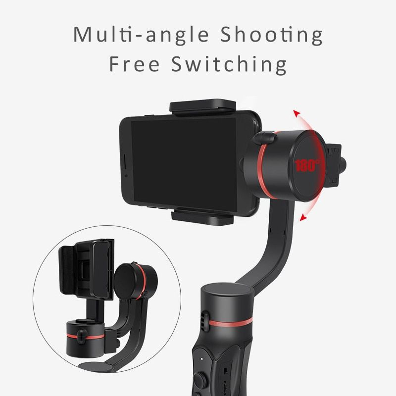 detailed look da24a 99cb2 Fansaco H2 3-Axis Handheld Gimbal Smartphone Stabilizer For IPhone X ...