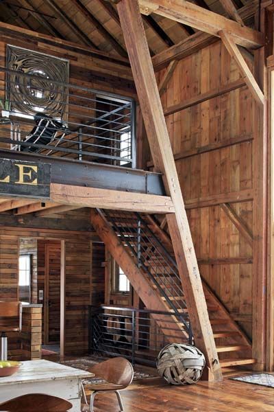 How to turn a barn into beautiful home steel beams