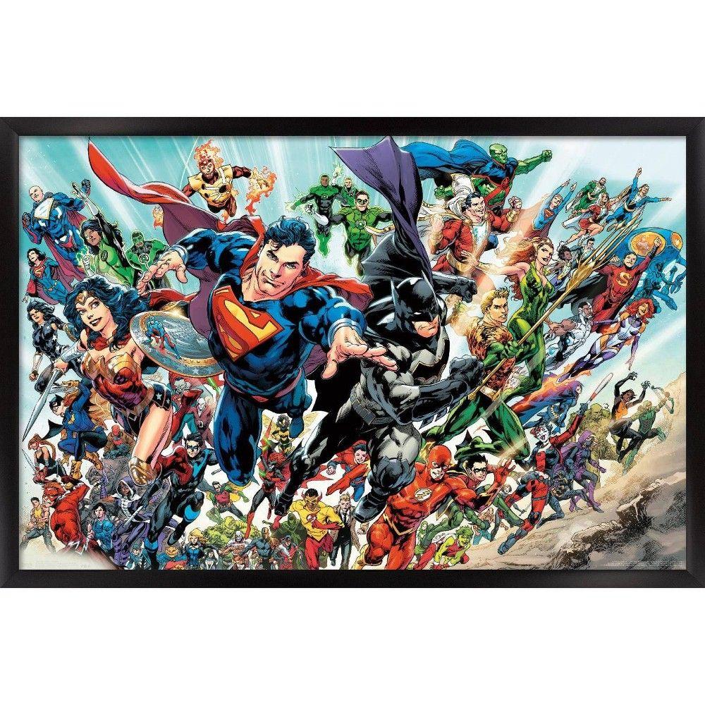 Dc Comics Rebirth Framed Poster Trends International In 2021 Comics Comic Poster Dc Comics Poster