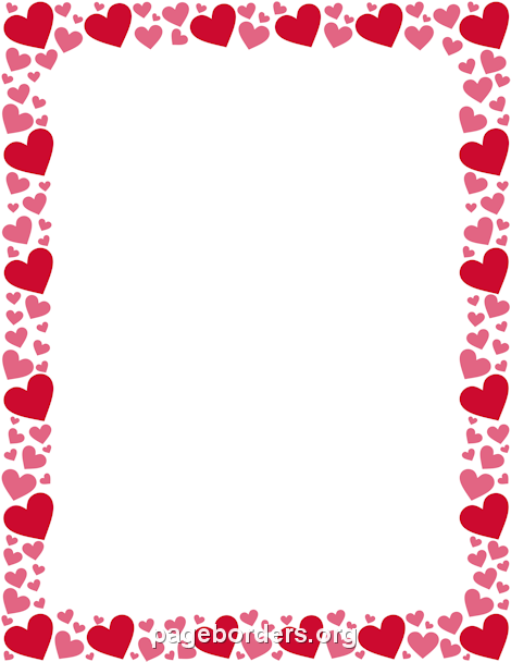 red and pink heart border write a letter pinterest