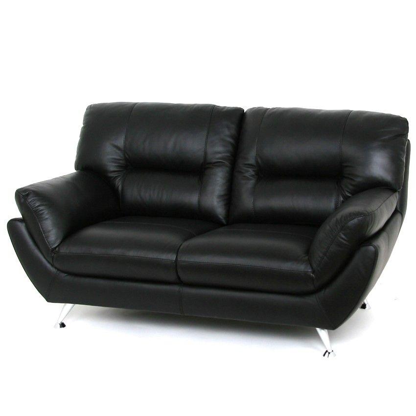 Apartment Loveseat   Black Leather