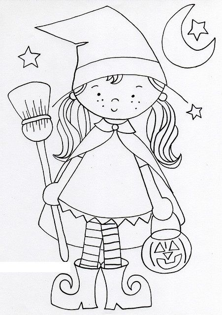 witch coloring page for kids (3) | Witch coloring pages