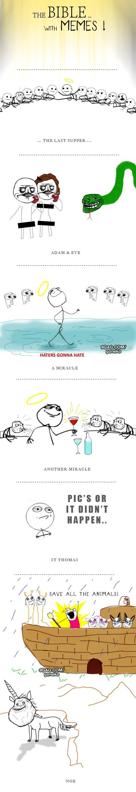 The Bible In Memes | My life's a joke  | Catholic memes